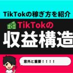 TikTokの収益構造!TikTokはどうやって収益化をしてるの?