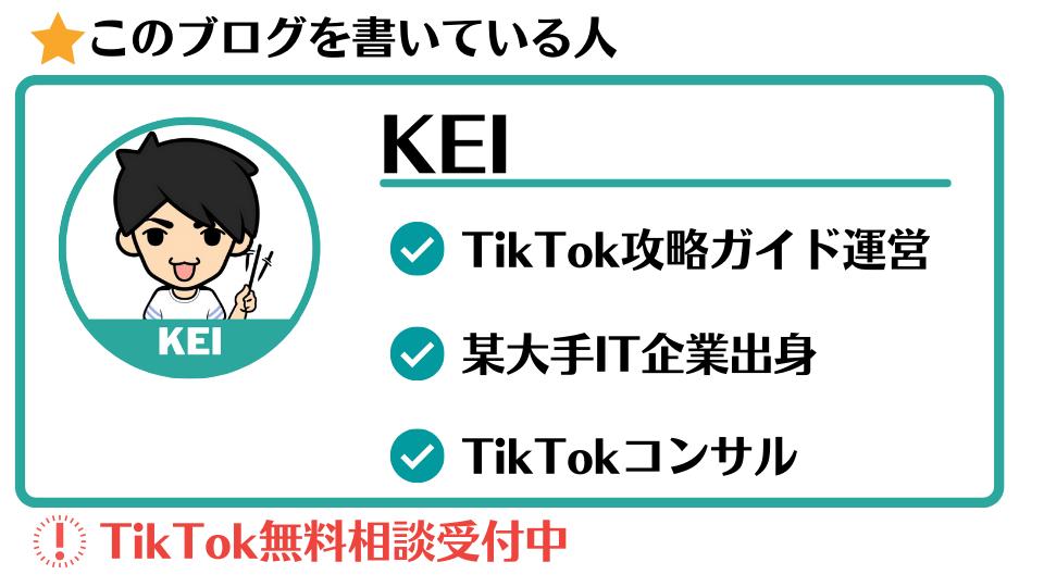TikTokコンサル KEI
