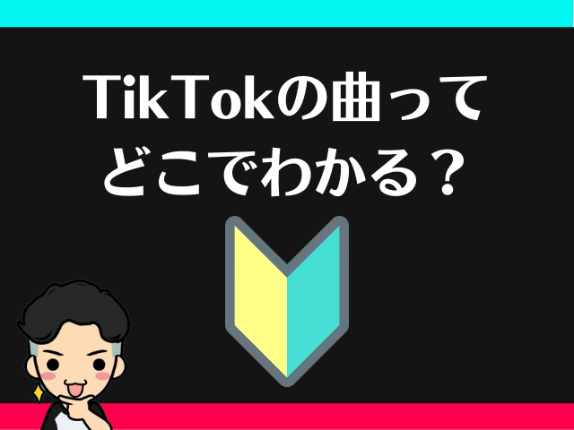 調べ方③TikTok初心者で動画を見ながら「曲名の調べ方」がわからない時